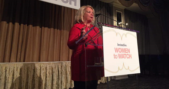 Peggy Ruhlin at the Women to Watch Luncheon