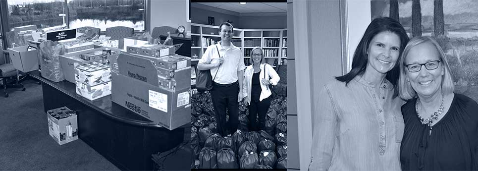 Giving thanks: Assembling backpacks for Blessings in a Backpack